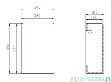 Cersanit Moduo szafka wisząca 39x21x59 cm biała S929-014