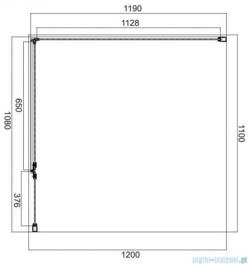 Omnires Manhattan kabina prostokątna 110x120cm szkło przejrzyste MH1112CRTR