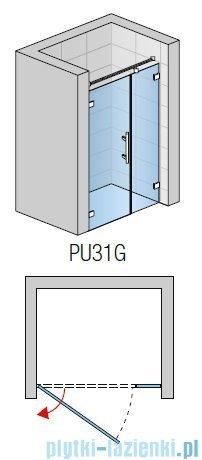 SanSwiss PUR PU31 Drzwi lewe wymiary specjalne do 200cm satyna PU31GSM41049