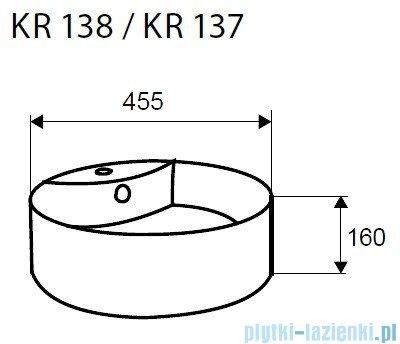 Novoterm Kerra Umywalka nablatowa KR 138 okrągła 46 cm