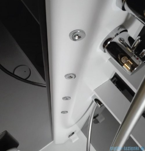 Novellini Glax 2 2.0 kabina z hydromasażem hydro plus 100x100 total biała G22R100T1L-1UU