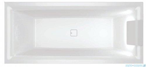 Riho Still Square wanna z zagłówkiem i oświetleniem prawa 170x75cm + syfon BR0200500K00130