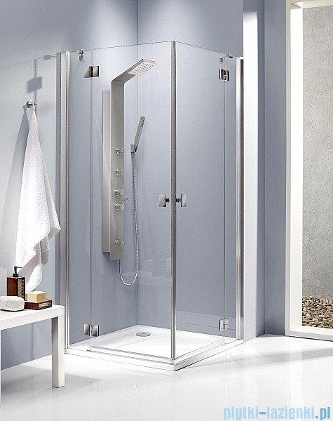 Radaway Kabina prysznicowa Essenza KDD 100x80 szkło brązowe