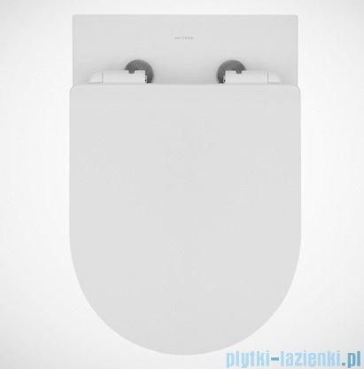 Massi Decos Rimless miska wisząca + deska wolnoopadająca slim zawias metalowy biała MSM-3673RIMSLIM