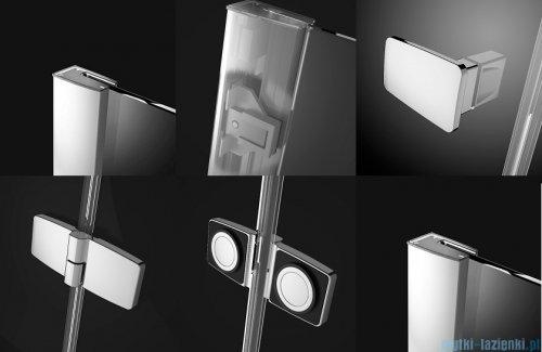 Radaway Fuenta New Kdj kabina 100x80cm lewa szkło przejrzyste + brodzik Doros D + syfon