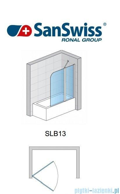 SanSwiss Swing Line SLB1 Parawan 1-częściowy 50-100cm profil biały Prawy SLB1DSM10407