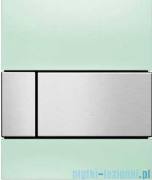 Tece Square przycisk do pisuaru szkło zielone, przycisk stal szczotkowana 9.242.804