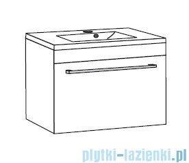 Antado Spektra ceramic szafka z umywalką 82x43x40 dąb samba 670082/667556