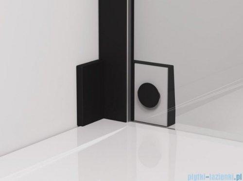 SanSwiss Cadura Black Line drzwi wahadłowe 110cm jednoczęściowe lewe z polem stałym czarny mat CA31CG1100607