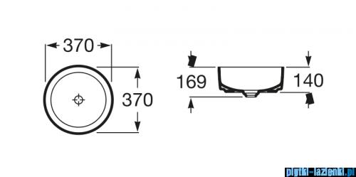 Roca Inspira Round umywalka nablatowa 37cm A327523000