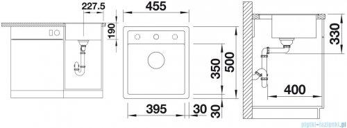 Blanco Dalago 45-F  Zlewozmywak Silgranit PuraDur kolor: alumetalik  z kor. aut. 517167
