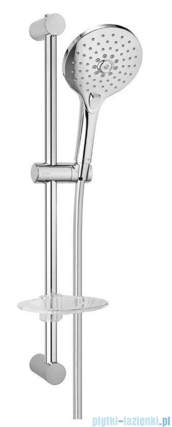 Oltens Saxan EasyClick Alling 60 zestaw prysznicowy z mydelniczką chrom 36004100