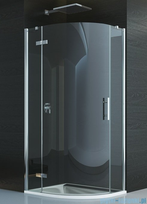 SanSwiss Pur P3P Kabina półokrągła 75-120cm profil chrom szkło przezroczyste Lewa P3PG50SM11007