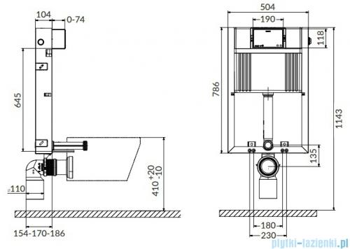 Cersanit Aqua 92 PNEU S WET Box stelaż podtynkowy do WC S97-052