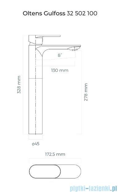 Oltens Gulfoss bateria umywalkowa wysoka chrom 32502100