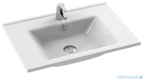 New Trendy umywalka ceramiczna z otworem na baterię 75 cm U-0086