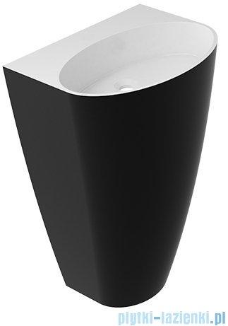 Omnires Siena UW umywalka wolnostojąca bez otworu biało-czarny połysk SienaUWBOBCP