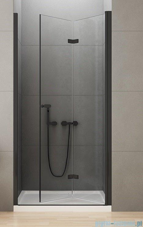 New Trendy New Soleo Black drzwi wnękowe bifold 90x195 cm przejrzyste prawa D-0224A