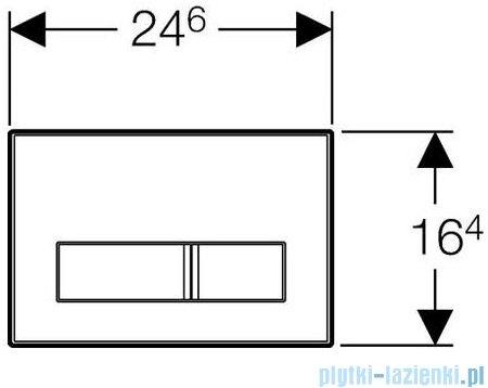 Geberit Sigma50 przycisk spłukujący przedni wypełnienie własne/chrom szczotkowany 115.788.00.1