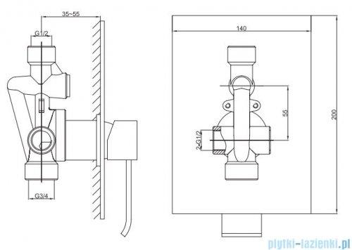 Kohlman Axis zestaw prysznicowy chrom QW220NR30