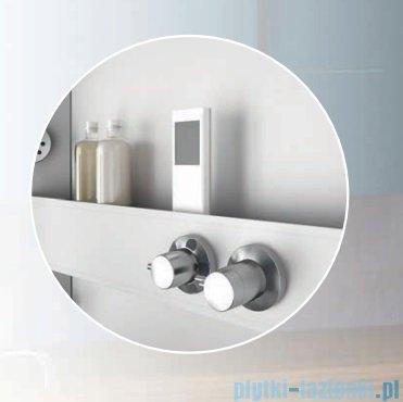 Novellini Glax 3 kabina prysznicowa z hydromasażem 100x70 lewa srebrny GL3A107SM1F-1B