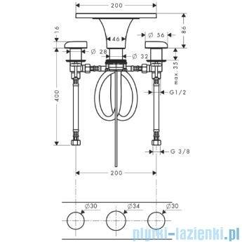 Hansgrohe Axor Massaud 3-otworowa bateria umywalkowa 18013000