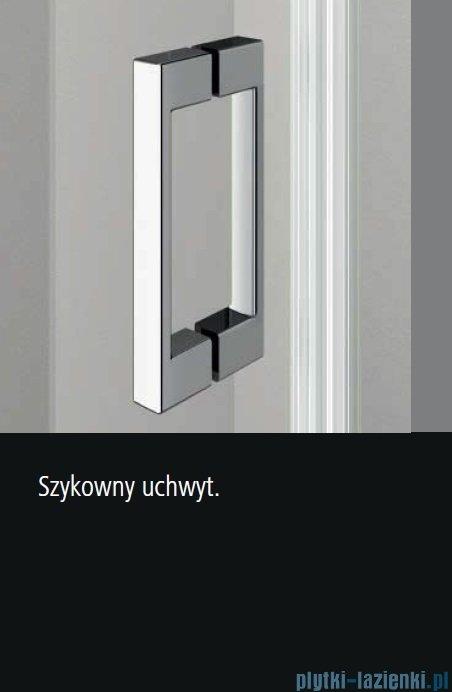 Kermi Osia Drzwi prysznicowe 1 skrzydłowe z polem stałym prawe, szkło przezroczyste 80 cm OSSTR08020VPK