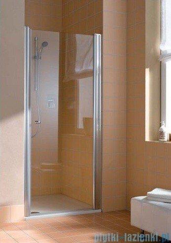 Kermi Atea Drzwi wahadłowe jednoskrzydłowe prawe, szkło przezroczyste, profile białe 95cm AT1WR095182AK