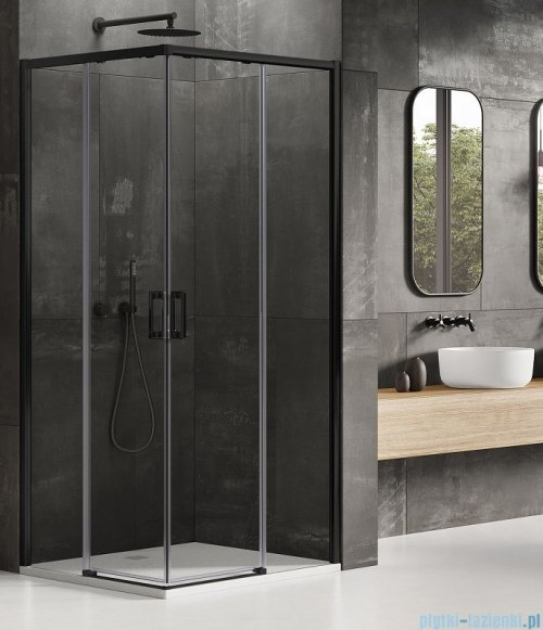 New Trendy Prime Black kabina prostokątna 100x90x200 cm przejrzyste D-0316A/D-0315A