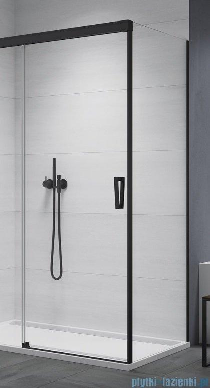 SanSwiss Cadura Black Line ścianka boczna Cast 120x200cm profile czarny mat CAST1200607