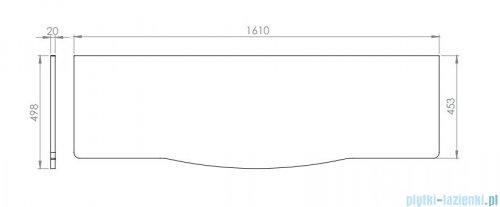 Elita Rolly blat szafkowy 161x50cm marmur biały calacatta 167800