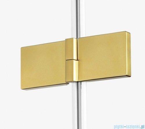 New Trendy Avexa Gold drzwi wnękowe 100x200 cm przejrzyste prawa EXK-1719