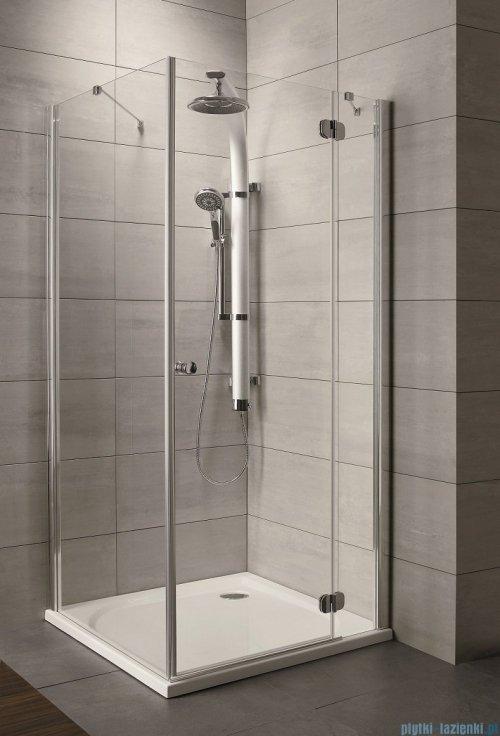 Radaway Torrenta Kdj Kabina prysznicowa 80x90 prawa szkło grafitowe + brodzik Doros D + syfon