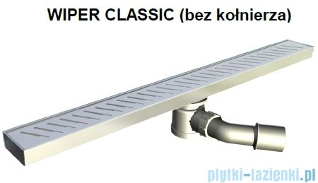 Wiper Odpływ liniowy Classic Ponente 80cm bez kołnierza szlif P800SCS100