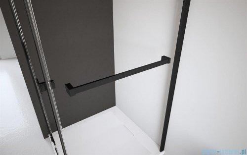 Radaway Furo Black PND II parawan nawannowy 110cm prawy szkło przejrzyste 10109588-54-01R/10112544-01-01