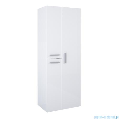 Elita Kwadro Plus słupek wiszący z lustrem 60x160x39cm biały połysk 166720
