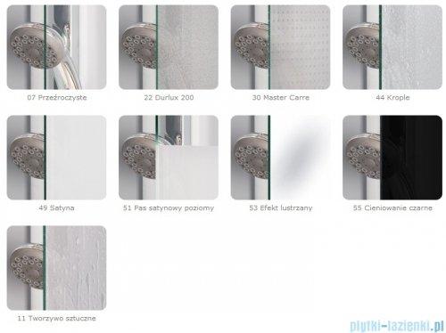 SanSwiss Pur PUE2 Wejście narożne 2-częściowe 75-120cm profil chrom szkło Satyna Prawe PUE2DSM11049
