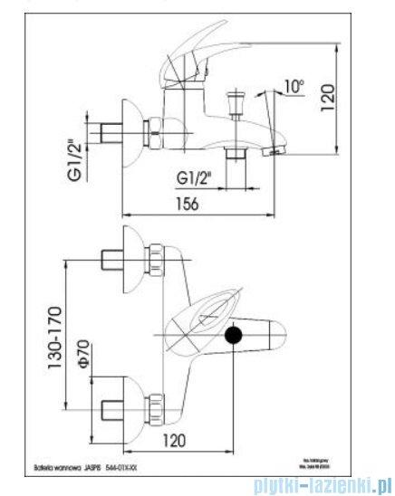 KFA Jaspis bateria wannowa, kolor chrom 544-010-00