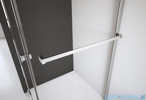 Radaway Kabina prysznicowa Almatea KDJ+S 80x80x80 prawa szkło przejrzyste + Brodzik Delos C + syfon 31532-01-01R1/31532-01-01R2