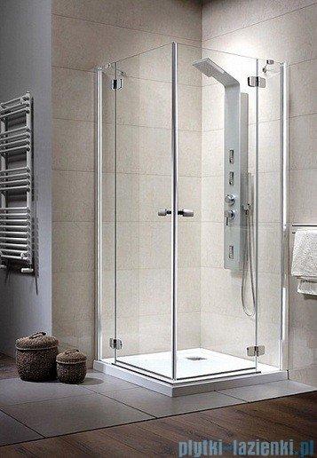 Radaway Kabina prysznicowa Fuenta KDD 90x80 szkło brązowe