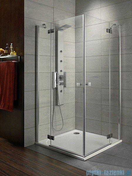 Radaway Kabina prysznicowa Almatea Kdd 90x100 szkło przejrzyste + brodzik Doros D + syfon