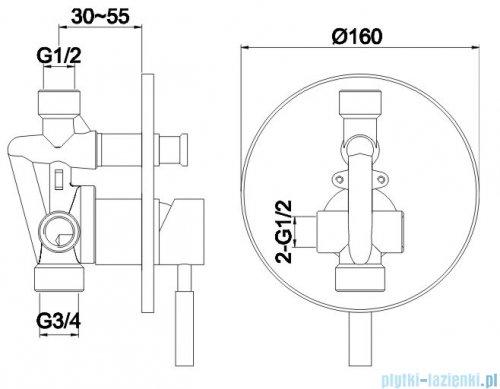 Kohlman Roxin zestaw prysznicowy chrom QW210RR30