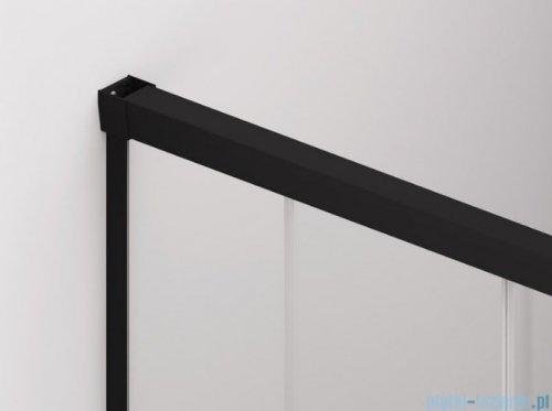 SanSwiss Cadura Black Line drzwi przesuwne 70cm jednoskrzydłowe prawe z polem stałym profile czarny mat CAE2D0700607