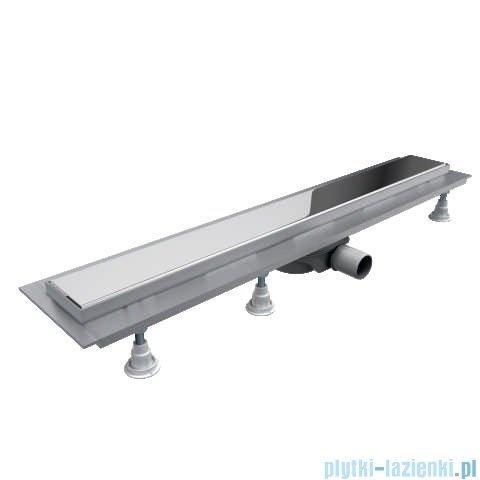 Schedpol Base-Low odpływ liniowy z maskownicą Steel 80x8x6,5cm OLSL80/ST-LOW