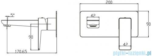 Omnires Parma bateria podtynkowa umywalkowa chrom PM7415CR
