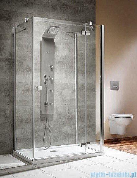Radaway Kabina prysznicowa Almatea KDJ+S 80x120x80 prawa szkło przejrzyste + brodzik Doros D + syfon montaż na posadzce