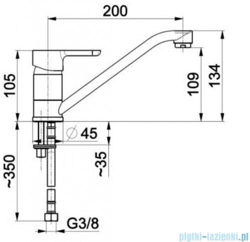 KFA Granat bateria zlewozmywakowa, kolor chrom 5523-915-00