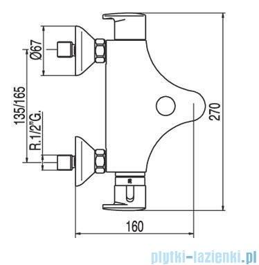 Tres Basic Bateria termostatyczna wannowa z akcesoriami 1.90.172.9