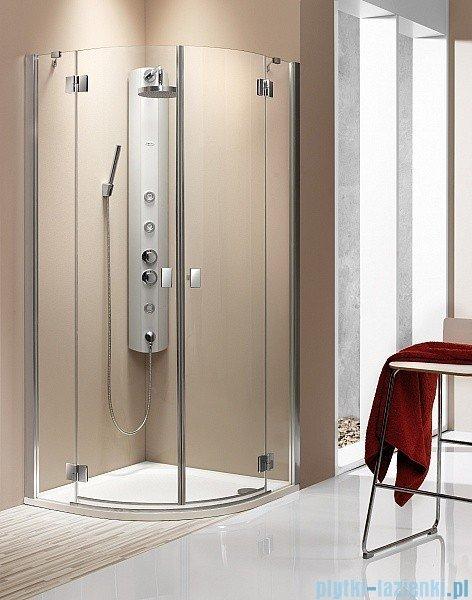 Radaway Kabina prysznicowa Essenza PDD E 90x80 szkło przejrzyste