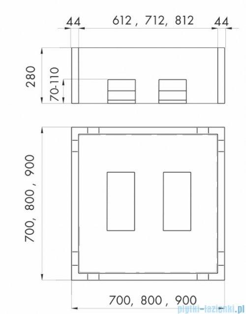 Schedpol nośnik styropianowy do brodzika stalowego kwadratowego 70x70x28cm 2.012